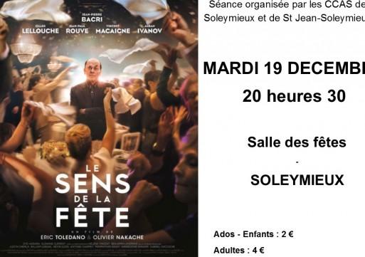 """""""Le sens de la fête"""", 19/12 à 20h30"""